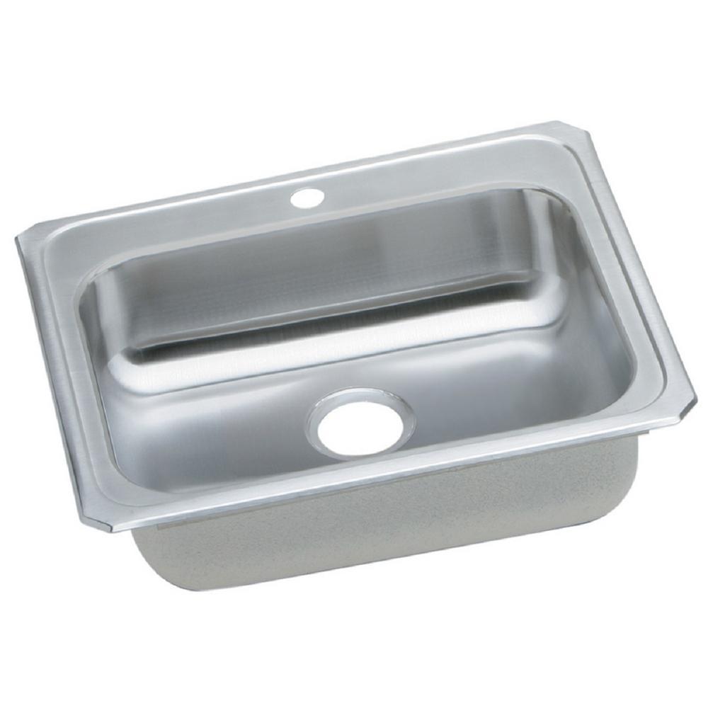 Celebrity Drop-In Stainless Steel 25 in. 1-Hole Single Bowl Kitchen Sink