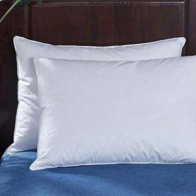 Goose Feather and Down Bed Jumbo Pillow in Standard/Queen (Set of 2)