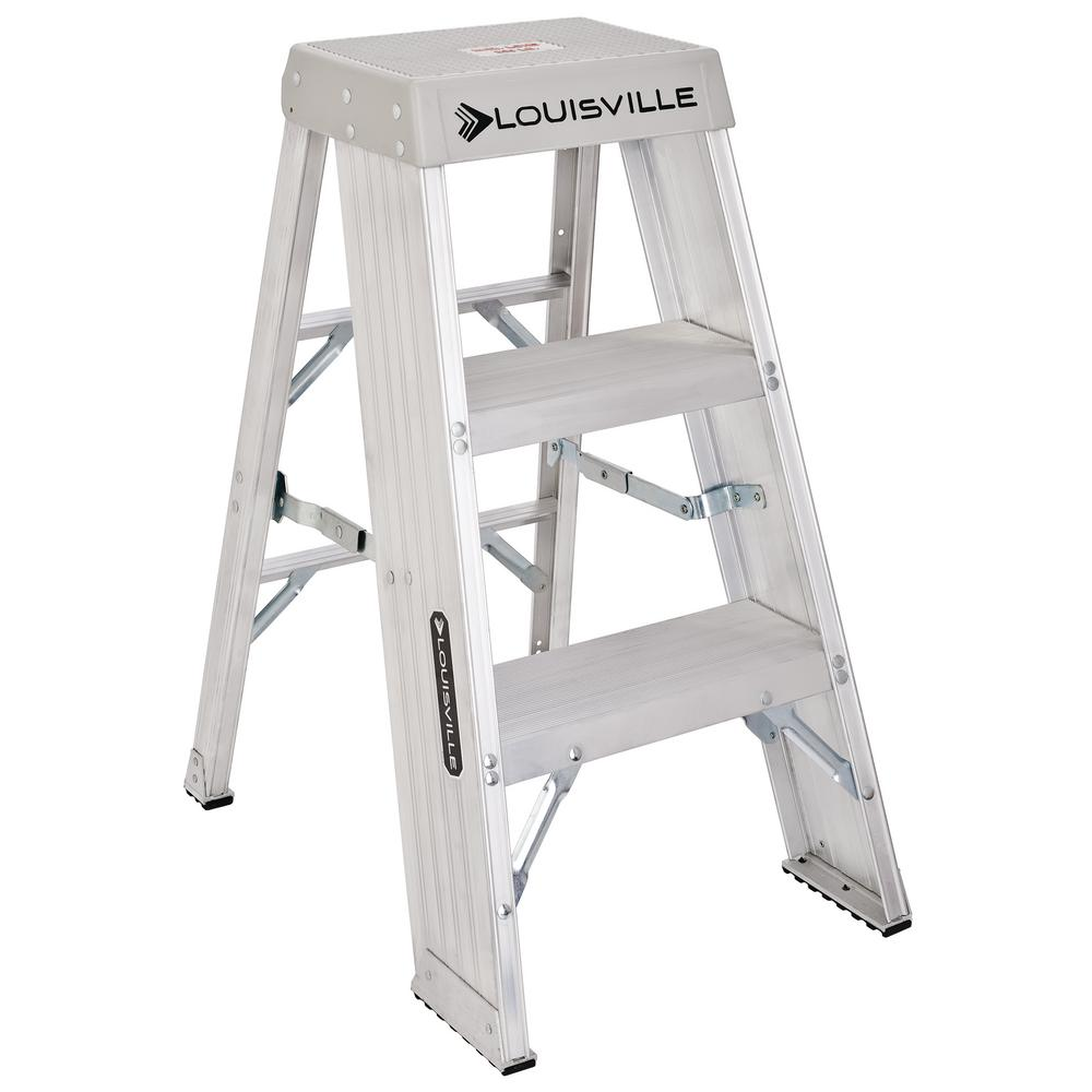 Louisville Ladder 3 Ft Aluminum Step Stand With 300 Lb