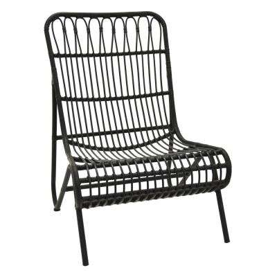 37.25 in. Black Metal Chair