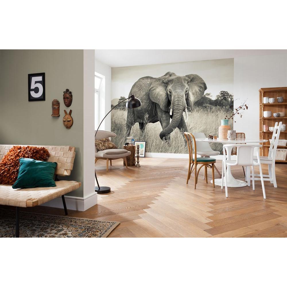 145 in. H x 98 in. W Elephant Wall Mural