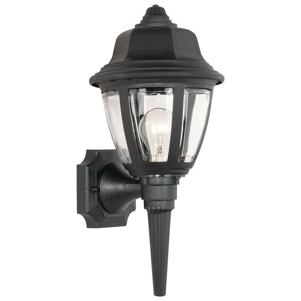 Thomas Lighting 1 Light Black Outdoor Wall Mount Lantern Sconce