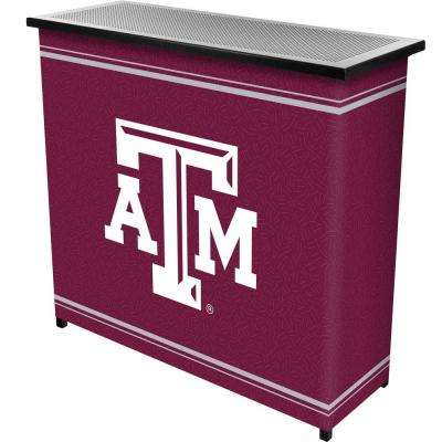Texas A and M University 2-Shelf Black Bar with Case