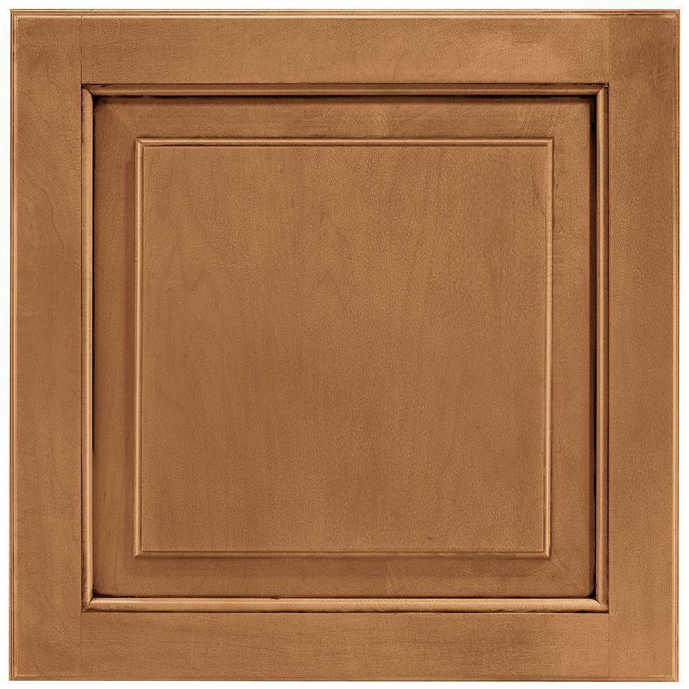 American Woodmark 14-9/16x14-1/2 in. Cabinet Door Sample in Charlottesville Maple Mocha Glaze
