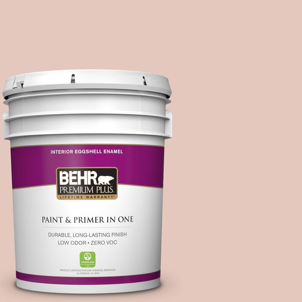 BEHR Premium Plus 5-gal. #210E-3 Almond Willow Zero VOC Eggshell Enamel Interior Paint