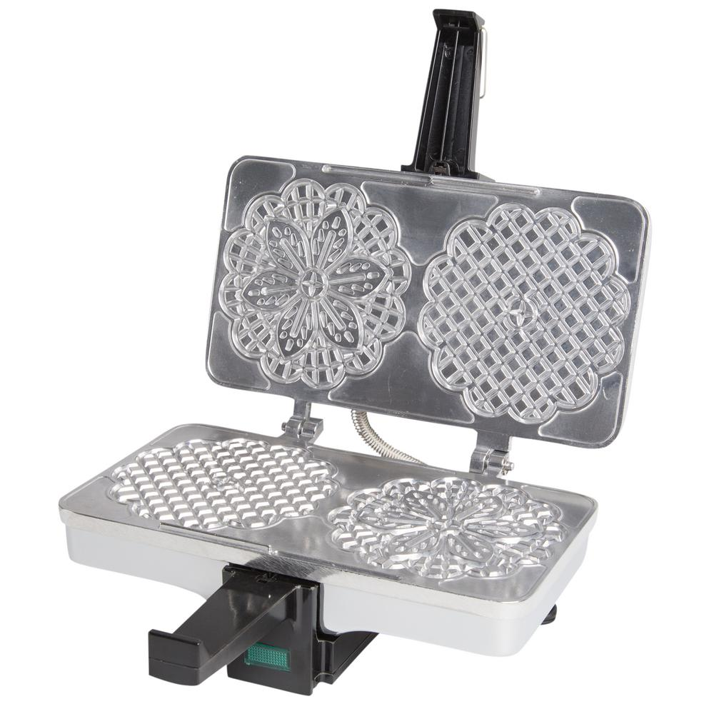 Cucinapro Polished Pizzelle Baker 220 05p The Home Depot
