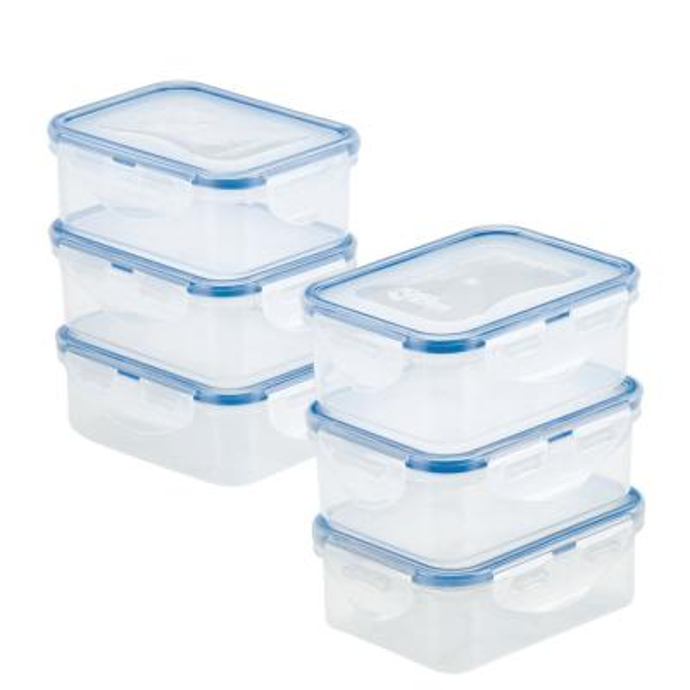Easy Essentials 6-Piece Rectangular Storage Container Set