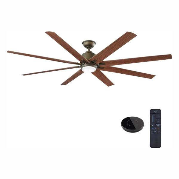 Kensgrove 72 in. LED Indoor/Outdoor Espresso Bronze Ceiling Fan Works with Google assistant and Alexa