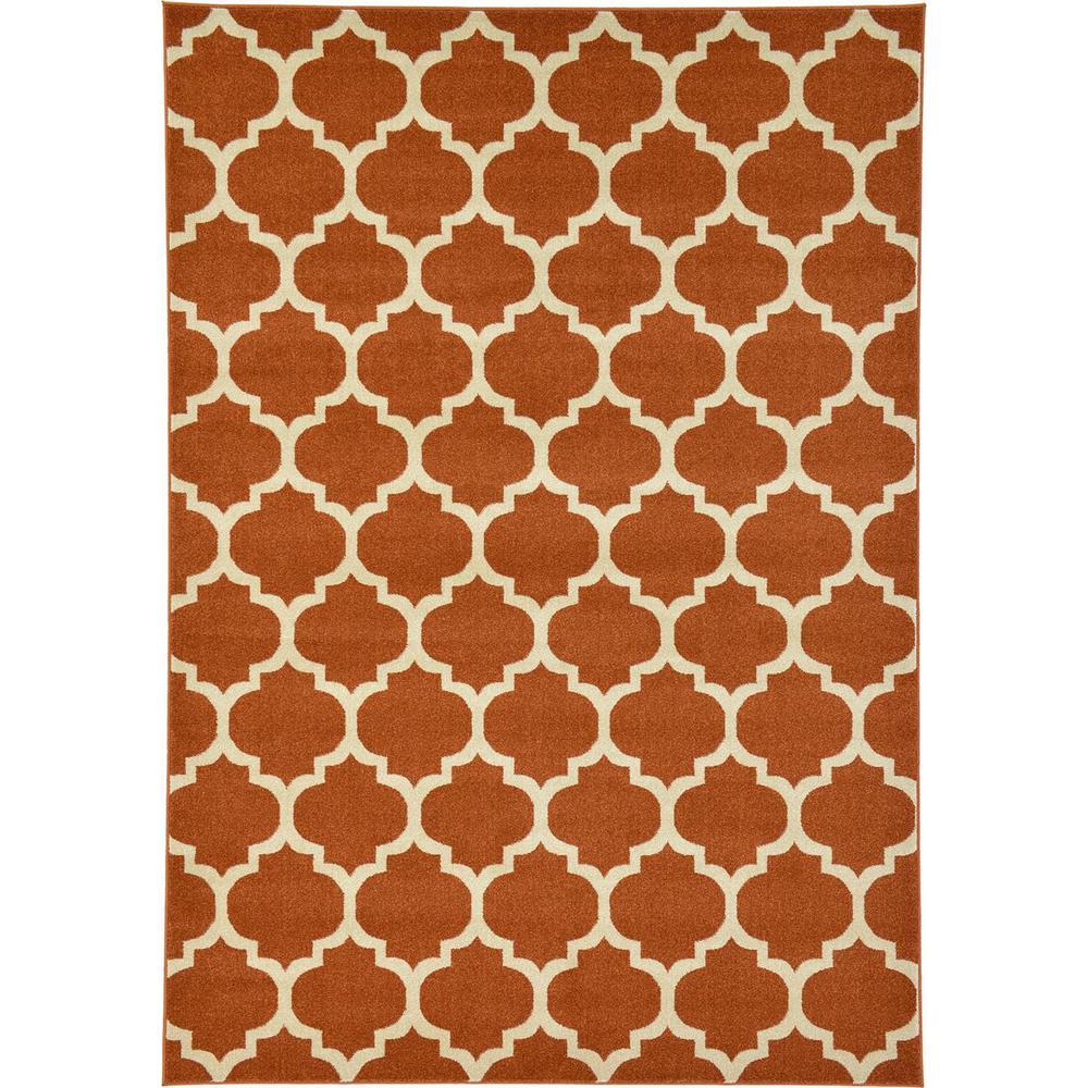 Brosious Terra Cotta Ivory Orange 2  ft. 3 in. x 7  ft. 10 in. Rectangular Runner