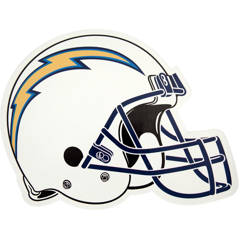 ee21903c655 Applied Icon NFL Los Angeles Chargers Outdoor Helmet Graphic- Large ...