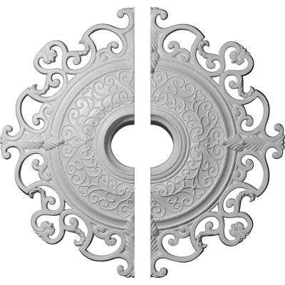 38-3/8 in. O.D. x 6-5/8 in. I.D. x 2-7/8 in. P Orleans Ceiling Medallion (2-Piece)