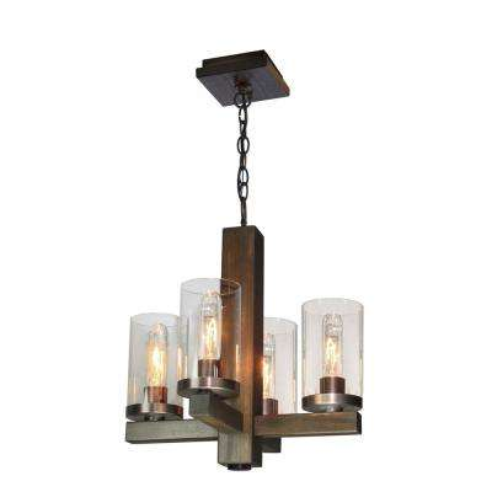 4-Light Brunito Bronze Chandelier