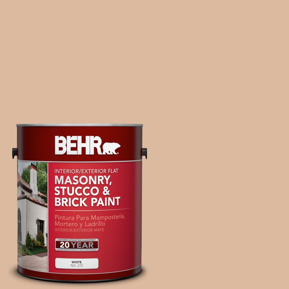1 gal. #PPU3-09 Pumpkin Cream Flat Interior/Exterior Masonry, Stucco and Brick Paint
