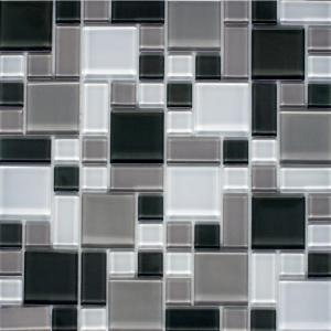 L And Stick Gray White 12 In X 6 Mm Instant Mosaic