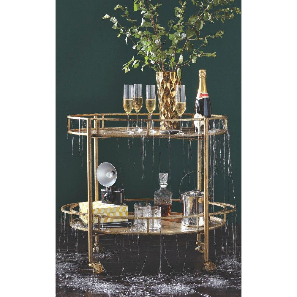 3R Studios Eliza Gold Bar Cart
