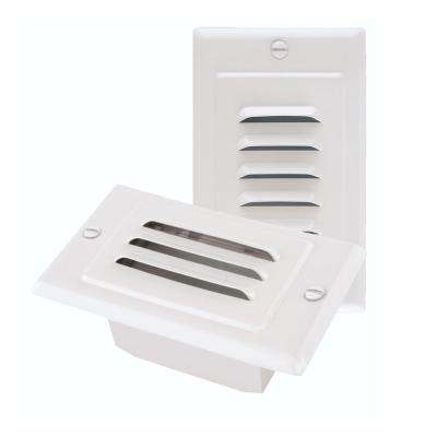 STP Series Hardwire White LED Stair Light with Horizontal and Vertical Faceplates