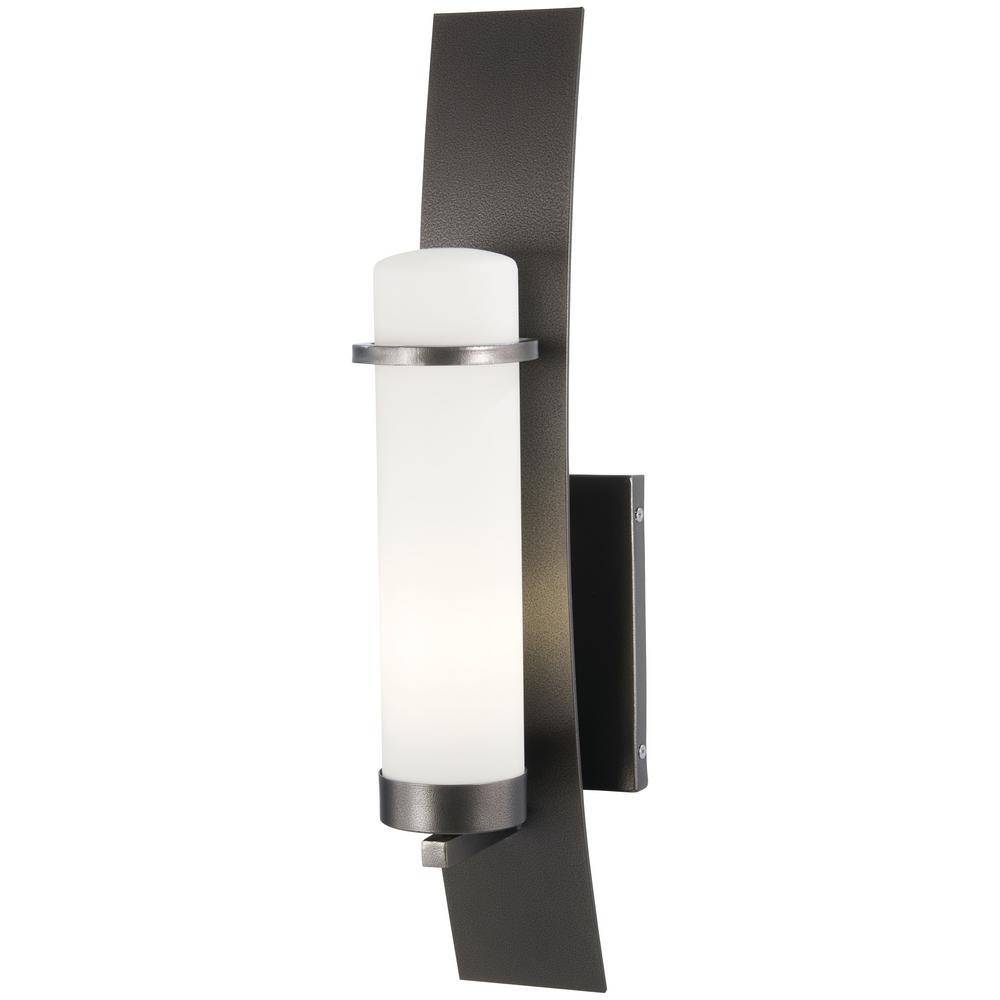 Arcus Truth 1-Light Smoked Iron Outdoor Wall Lantern Sconce