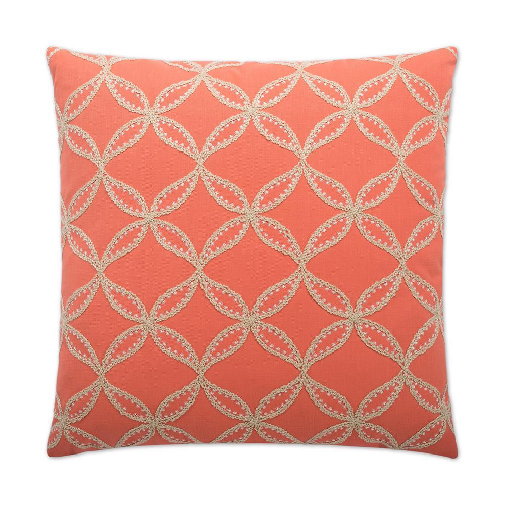 Tanjib Salmon Feather Down 24 in. x 24 in. Standard Decorative Throw Pillow