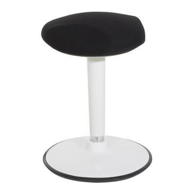 Active Perch 22 in. - 31 in. White Frame and Black Fabric Seat