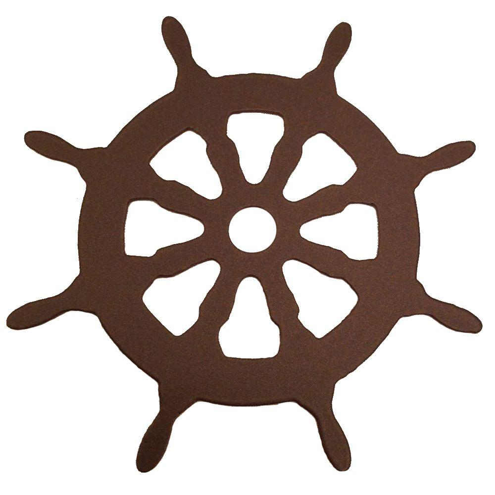 3-1/8 in. Dia Ship Wheel Decorative Oil Rubbed Bronze Roller Cover