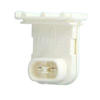660W Medium Fluorescent Lampholder for T-8 and T-12 Lamps Slide-On Recessed Double Contact Pedastal Type with Fixed End