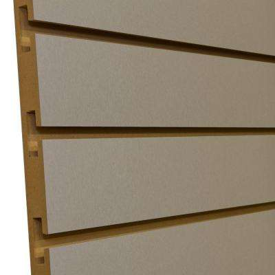 3/4 in. x 4 ft. x 8 ft. 3 in. OC Brushed Aluminum Melamine Slatwall Wall Rack (5-Pack)