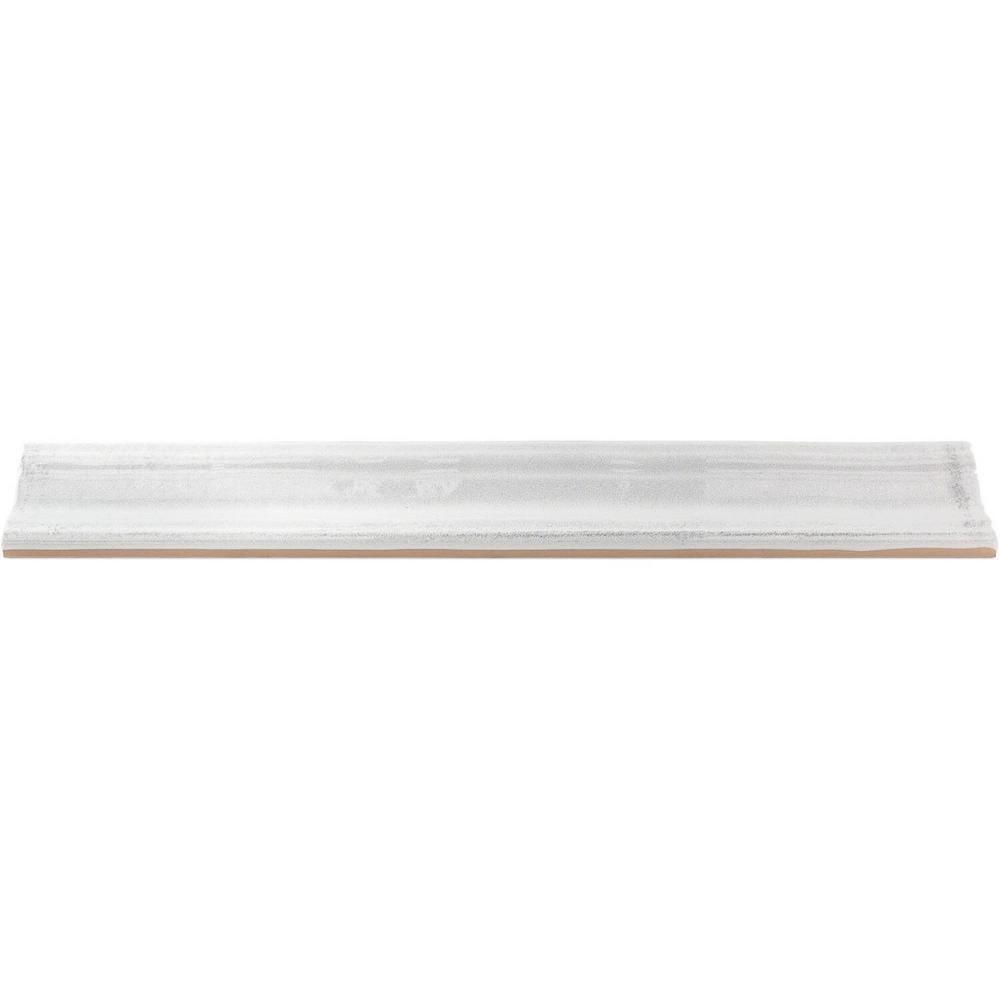 Ivy Hill Tile Moze White 2 In. X 12 In. Ceramic Chair Rail