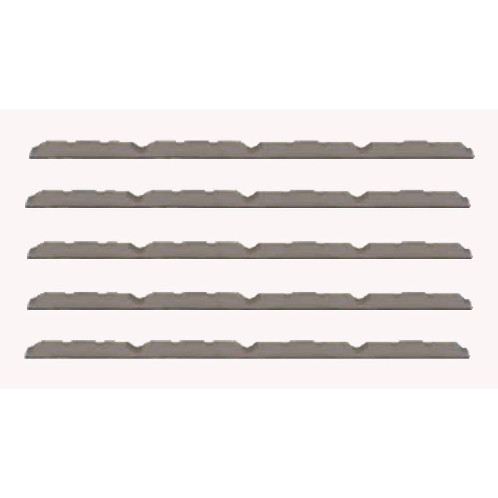 3 ft. Outside Closure Strip Foam SM-Rib Roof Accessory in Gray
