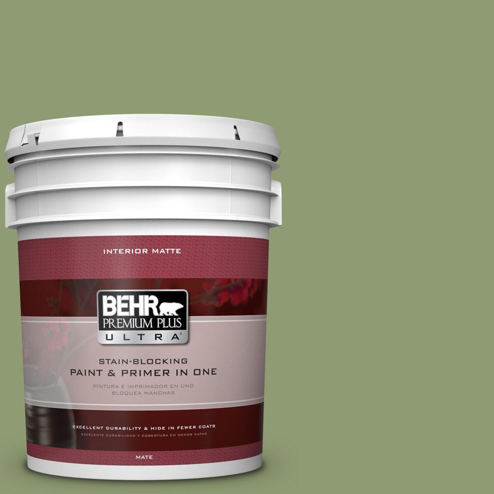 5 gal. #PPU11-4 Alamosa Green Flat/Matte Interior Paint