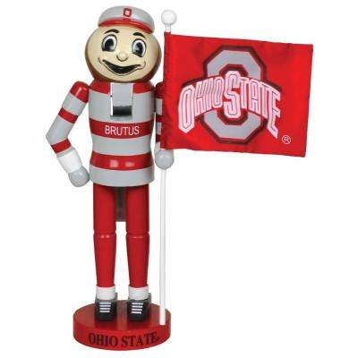 12 in. Ohio State Mascot Nutcracker with Flag