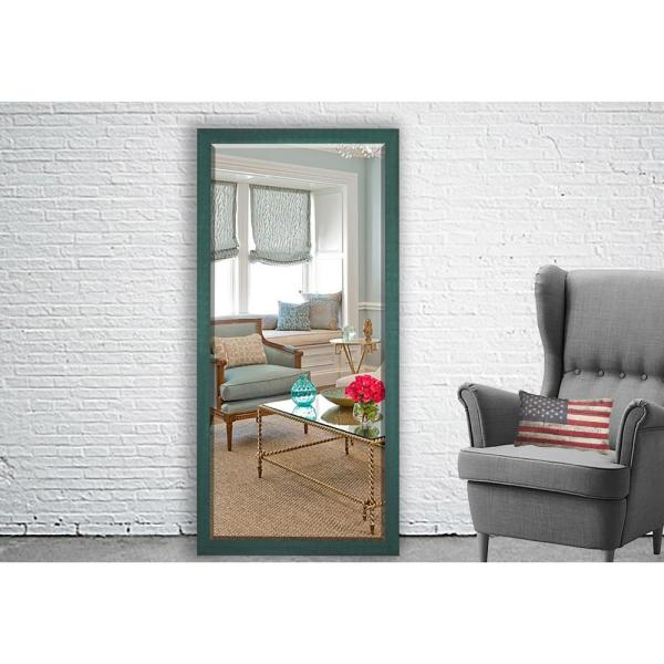 Astonishing 71 In X 30 5 In Country Cottage Aqua Framed Beveled Tall Download Free Architecture Designs Scobabritishbridgeorg