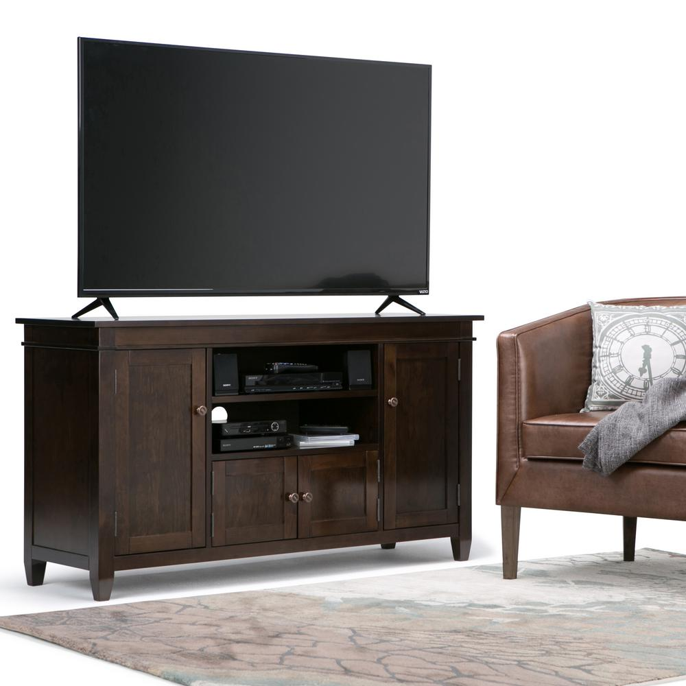 Simpli Home Carlton Tobacco Brown TV Media Stand