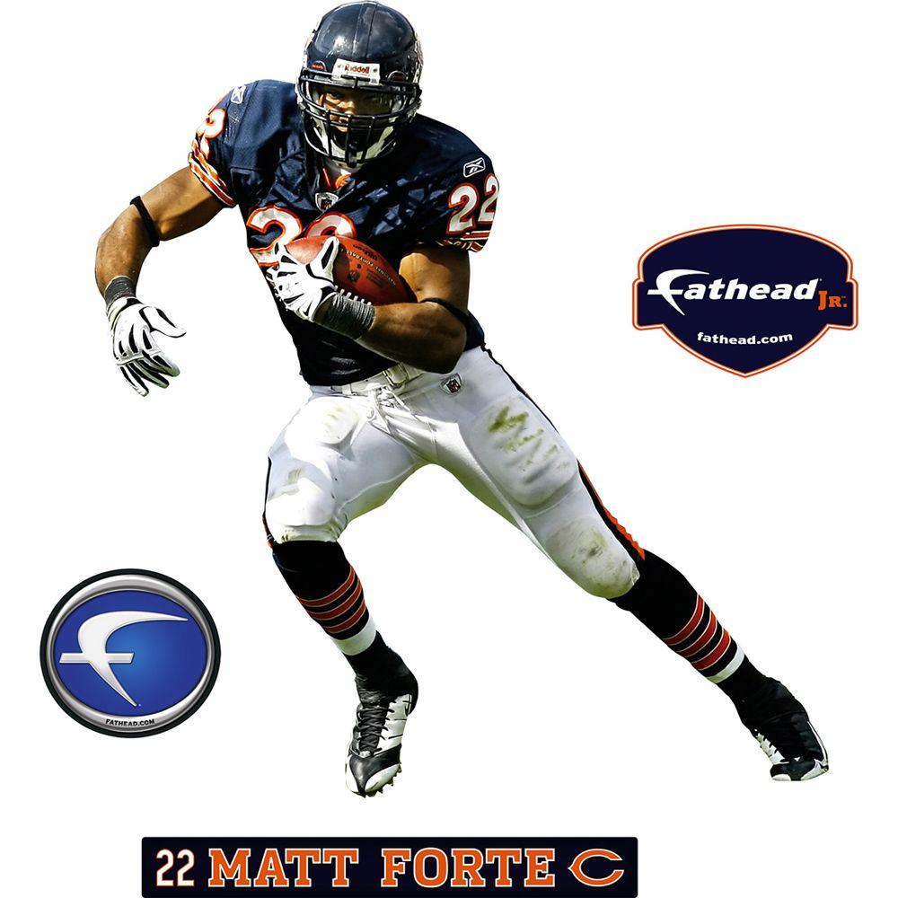 Fathead 27 in. x 32 in. Matt Forte Chicago Bears Wall Decal