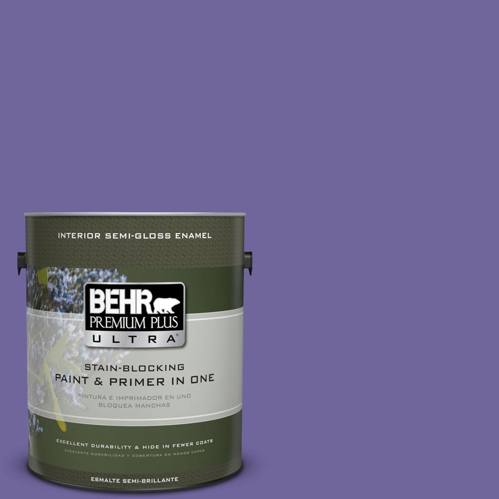 BEHR Premium Plus Ultra 1-gal. #630B-7 Pandora Semi-Gloss Enamel Interior Paint
