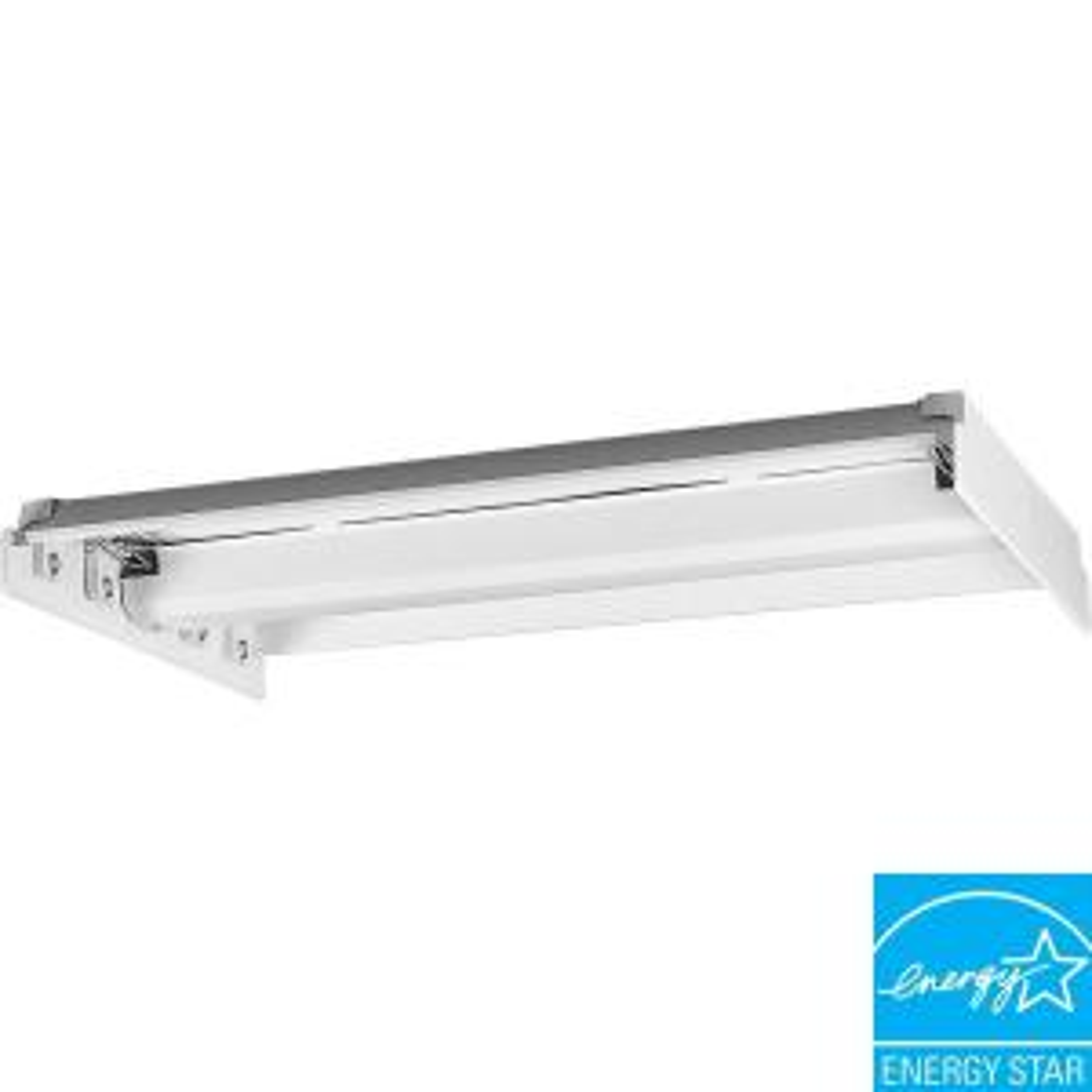 Progress Lighting 4-Light White Fluorescent Fixture Chassis by Progress Lighting