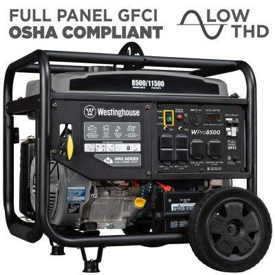 Pro 8500-Watt Super Duty Gas Powered Industrial Portable Generator with Remote Start and Full Panel GFCI