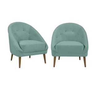 Remarkable Handy Living Lori Modern Turquoise Blue Velvet Fabric Barrel Machost Co Dining Chair Design Ideas Machostcouk