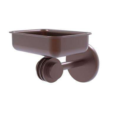 Satellite Orbit Two Collection Wall Mounted Soap Dish with Dotted Accents in Antique Copper