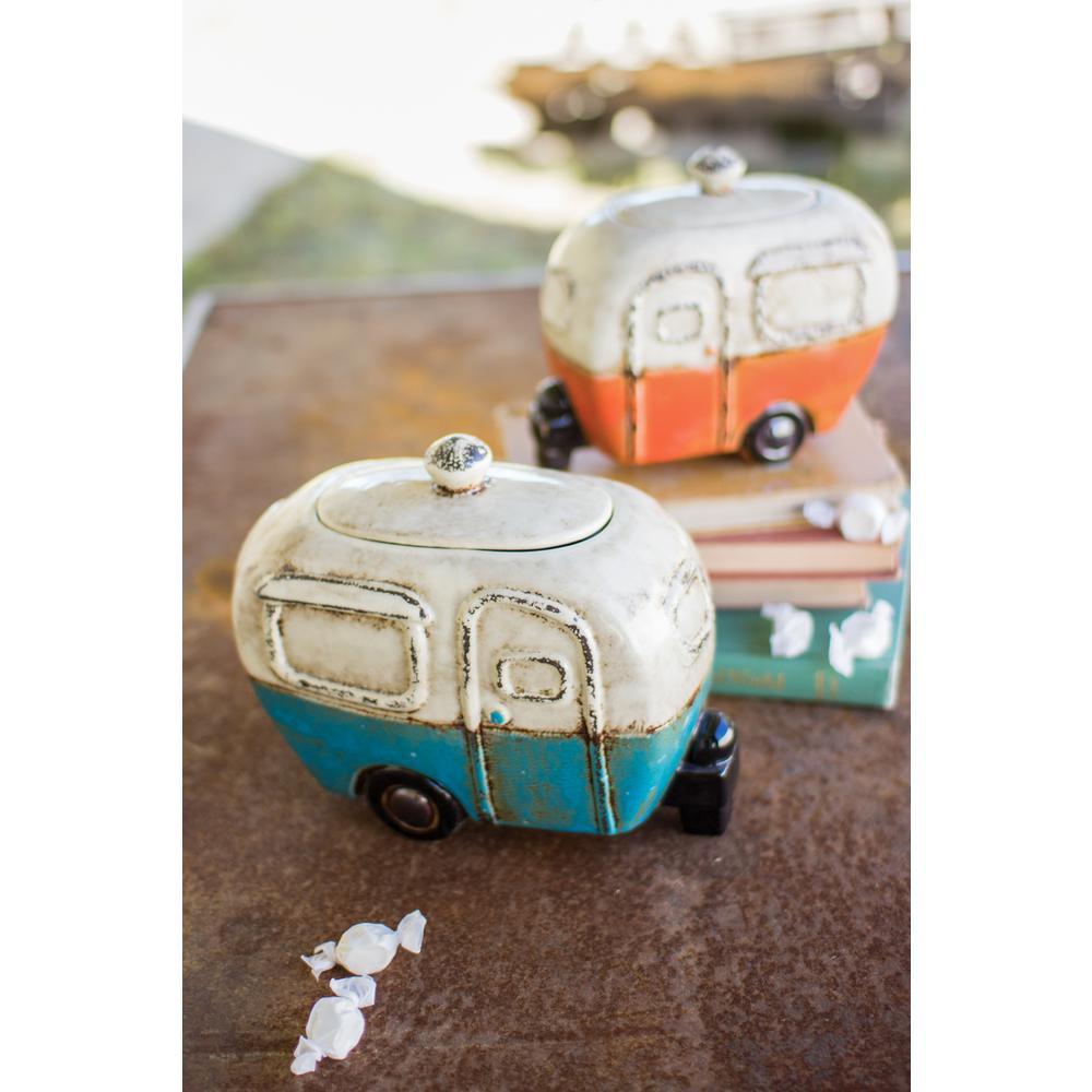 2-Piece Ceramic Camper Canister Set with Ceramic Lids