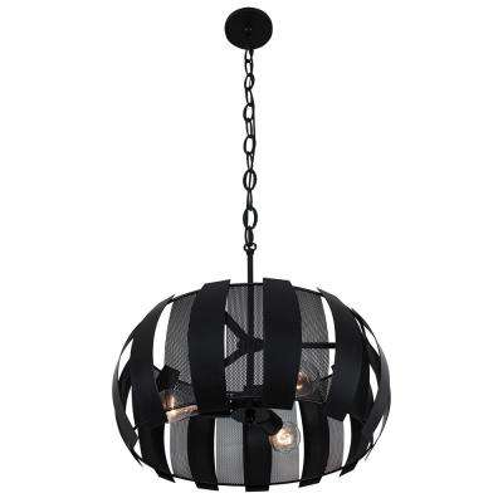 Sawyers Bar 3-Light Black Pendant