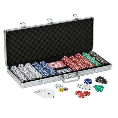 Texas Hold 'Em 500 -Count Poker Chip, Dice and Card Set