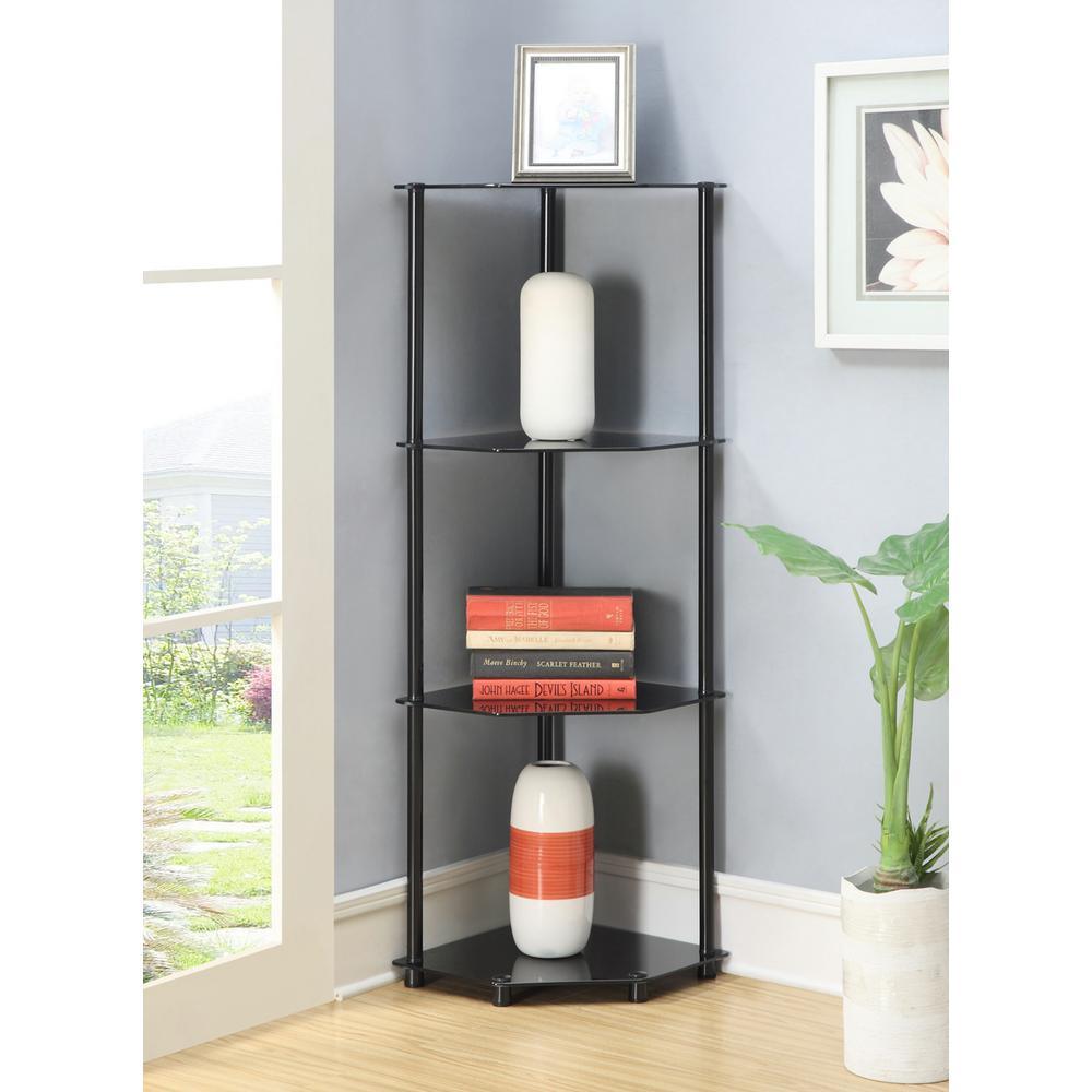 Designs2Go Black 4-Tier Corner Shelf