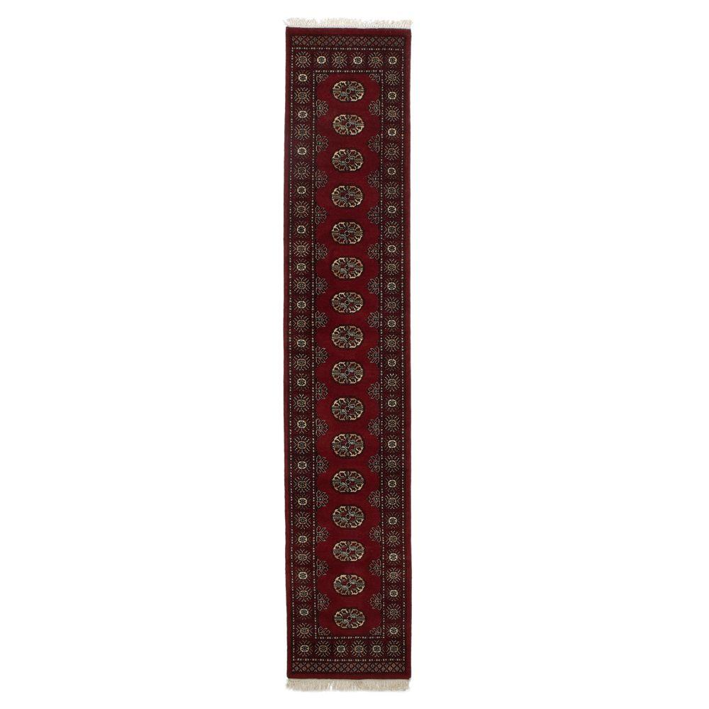 Home Decorators Collection Bokhara Red 2 ft. 3 in. x 11 ft. 6 in. Runner