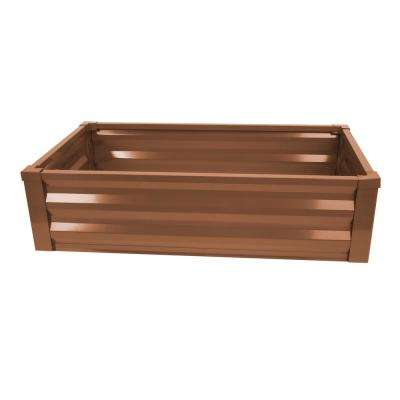 24 in. W x 48 in. L x 12 in. H Timber Brown Pre-Galvanized Powder-Coated Steel Raised Garden Bed Planter