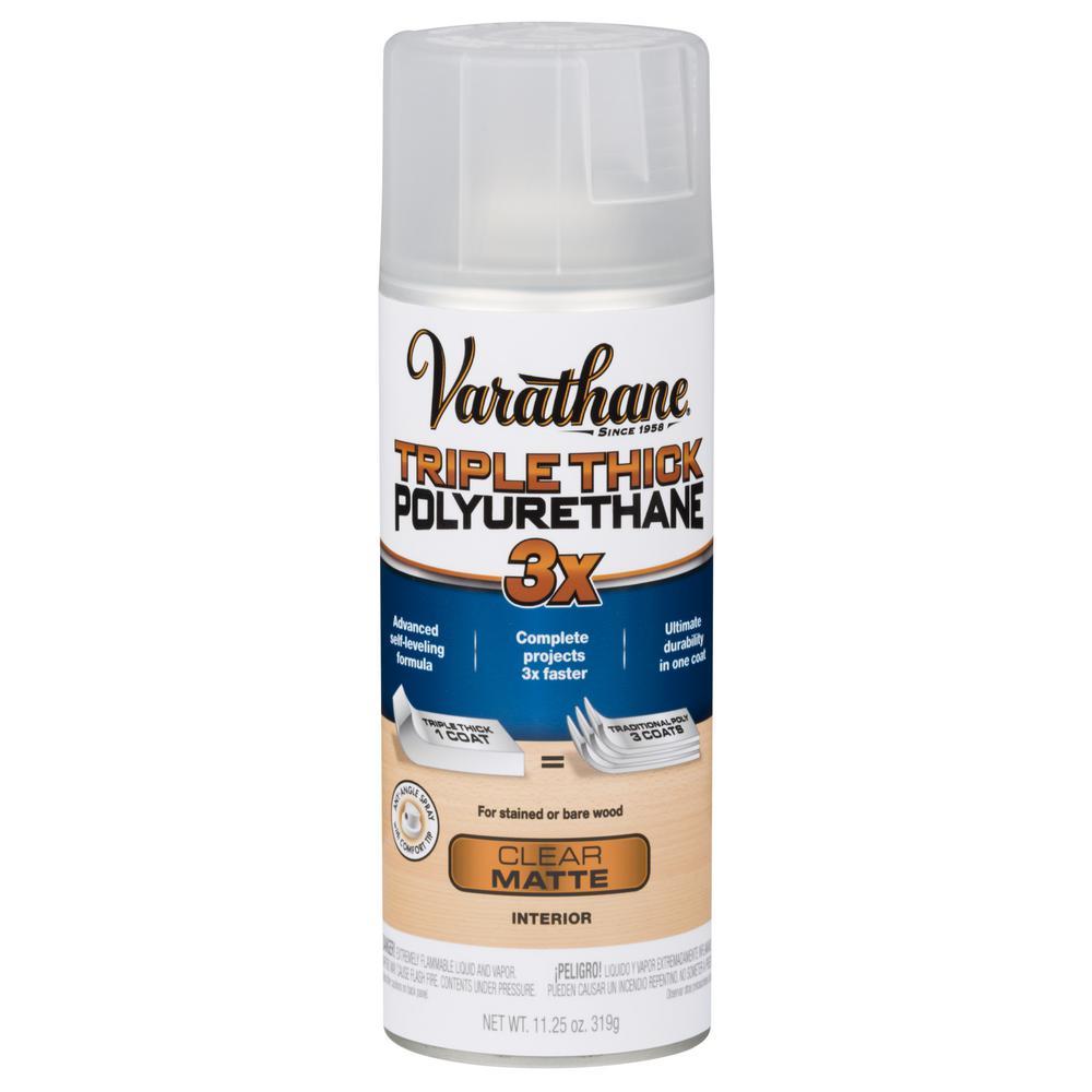 11 oz. Matte Triple Thick Polyurethane Spray Paint (6-Pack)