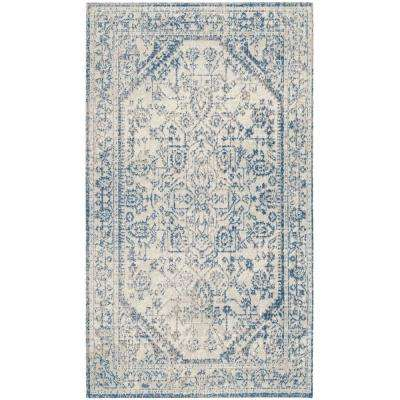 Patina Light Gray/Blue 3 ft. x 5 ft. Area Rug
