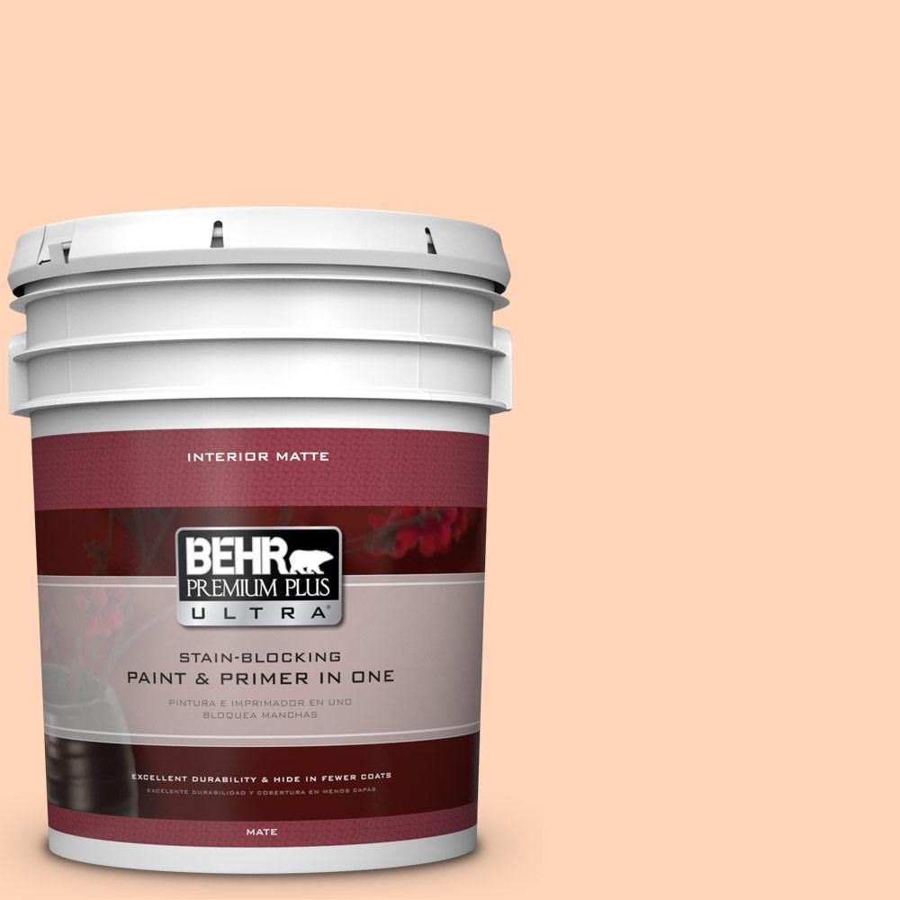 5 gal. #260A-3 Peach Beige Flat/Matte Interior Paint