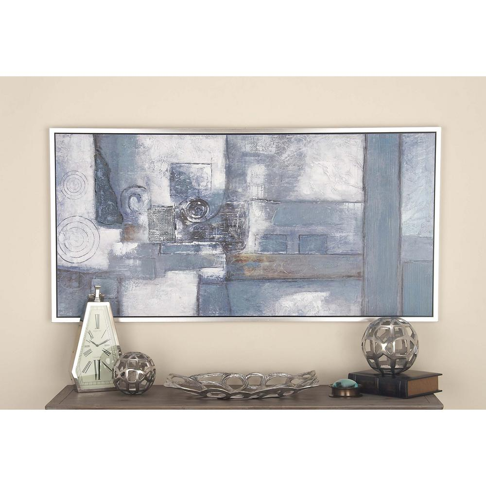 Litton Lane 28 in. x 55 in. Abstract Geometric Art Hand-Painted ...