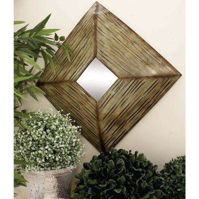 16 in. Assorted Streaked Square Framed Wall Mirrors