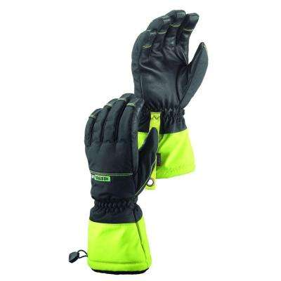 Czone Pro Finger Size 9 Large Cold Weather Insulated Waterproof Glove in Black and High Vis Yellow